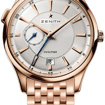 Zenith 18.2130.682/02.m2130 Captain Dual Time 40mm in Rose...