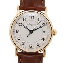 浪琴 (Longines) Heritage 18k Rose Gold White Automatic L4.267.8....