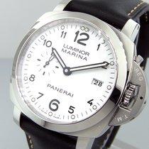 Panerai Unworn  Pam 499 Steel 44 Mm Luminor Marina 1950 White...