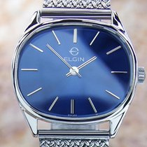 Elgin Rare Vintage Swiss Men's Classic Stainless St 1970s...