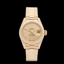 Rolex Datejust 18k Yellow Gold Ladies 69178 - W4071