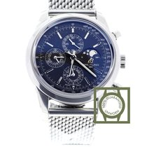 Breitling Transocean Chronograph II Moonphase Black Dial NEW