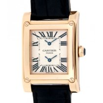 Cartier Tank Avis W1537651 Dual Time Zone In 18kt Rose Gold