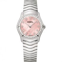 Ebel Classic Steel Pink Mother Of Pearl Dial, Diamonds Bezel