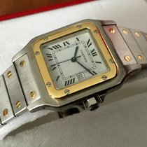 Cartier Santos Gold Steel White Roman Dial Automatic (40 x 30 mm)