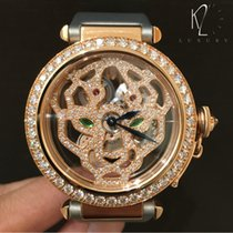 Cartier Pasha De Cartier Skeleton Panther Head Rose Gold