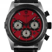 Tudor Fastrider Chronograph Stahl Automatik Armband Leder 42mm