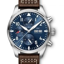 IWC IW377714 Big Pilot Le Petit Prince Chronograph in Steel -...