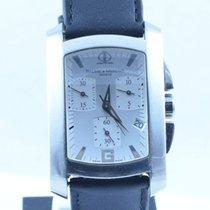 Baume & Mercier Hampton Herren Uhr Stahl/stahl 30mm Chrono...