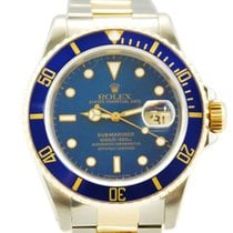Rolex Submariner Date Two Tone 18kt YG/SS Blue Dial/Bezel - 16613