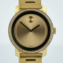 Movado Bold Gold Ion-Plated, Diamonds, Unisex, Stainless...