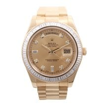 Rolex 41mm Day-Date 18k YG Factory Diamond Bezel  & Dial...