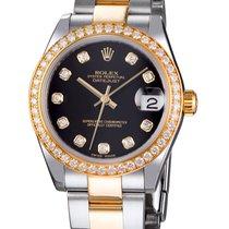 Rolex 178383 Datejust 31MM Black Diam 178383
