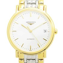 Longines Presence Gold And Steel White Automatic L4.821.2.12.7