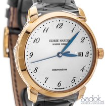 Ulysse Nardin Classico Automatic Watch 18k Rose Gold Enamel...
