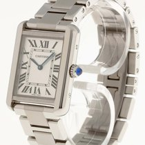 Cartier Tank Solo Stahl an Stahlband Ref. W 5200013