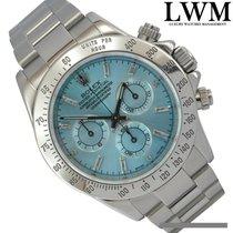 Rolex Daytona 116520 Blue Sky diamond baguette Dial Full Set 2005