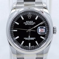 Rolex Datejust 116200 36mm Black Stick Dial Oyster Perpetual...