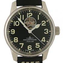 Zeno-Watch Basel Open Heart Stahl Automatik Armband Leder 40mm...