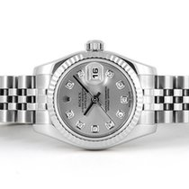 Rolex Datejust Lady SS Silver Diamond Dial 179174