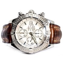 Breitling Chronomat Evolution Steel Silver Dial 44 mm