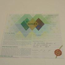 Rolex Warranty Certificate Ref: 16610