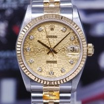 Rolex Oyster Perpetual Datejust 30mm Half-gold Diamond Dial...