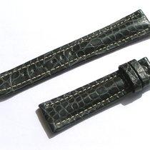 Breitling Band 19mm Croco Black Negra Strap Ib19-04