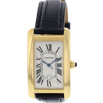 Cartier Large Cartier Tank Americaine 18K Yellow Gold Automati...