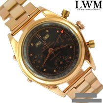 Rolex Dato Compax 4767 Jean-Claude Killy pink gold 18KT black...