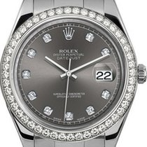 Rolex 41mm Datejust II Stainless Steel 116334 Custom Rhodium...