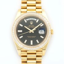 Rolex Oyster Perpetual Day-Date 40 18K Gold Baguette Diamond