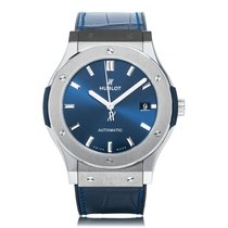 Hublot Classic Fusion Blue Titanium Mens Watch 511.NX.7170.LR
