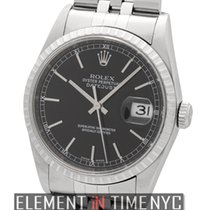 Rolex Datejust Stainless Steel 36mm Black Index Dial D Serial