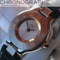 Cartier Must 21 Homme Quartz boitier or et acier 1998