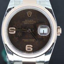 Rolex Datejust 36MM Gold/Steel Choco Diamond Dial Full Set
