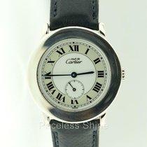 Cartier Silver Case Roman Dial Quartz Watch Sub Seconds
