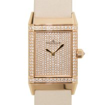 Jaeger-LeCoultre Reverso 18 K Rose Gold With Diamonds Gold...