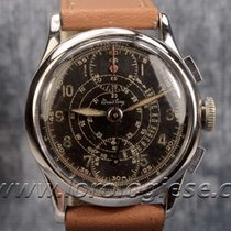 Breitling Vintage 1940`s Black Glossy Dial Chronograph Cal....
