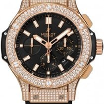 Hublot Big Bang Rose Gold Watch Mens Diamond