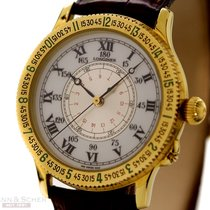 Longines Lindbergh Hour Angle 38mm Ref-9895216 18k Yellow Gold...