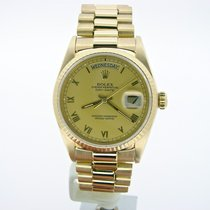 Rolex 18k Gold Day-date President Champagne Roman 18038