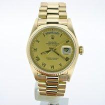 Rolex 18k Gold Day-date President Champagne Roman 18038