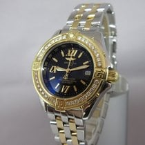 Breitling Windrider B-Class Lady Stahl/Gold Diamantlünette -...