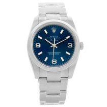 Rolex Air King Blue Dial Domed Bezel Automatic Mens Watch 114200