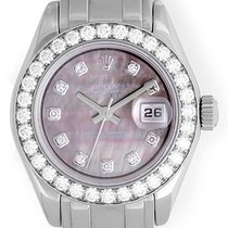 Rolex Ladies Masterpiece/Pearlmaster Gold Diamond Watch 80299