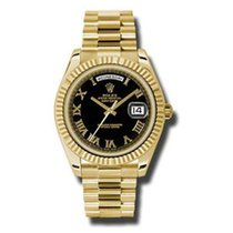Rolex Day Date II President Yellow Gold - Fluted Bezel