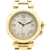 Cartier Pasha 1035 Solid 18k Yellow Gold Automatic Watch W/...