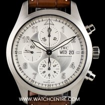 IWC S/Steel Silver Dial Pilots Chronograph Gents B&P IW371702