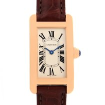 Cartier Tank Americaine 18k Rose Gold Ladies Watch W2607456...